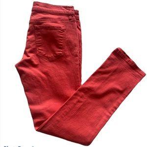 TOMMY HILFIGER Women Jeans Sz 28x31 Orange Stretch